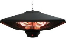 Outsunny Hanging Halogen Heater, 2000 W-Black