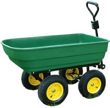 Outsunny Heavy Duty 4 Wheel Trolley, 125L-Dark