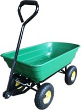 Outsunny Heavy Duty 4 Wheel Trolley, 75L-Dark Green