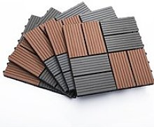 Outsunny Interlocking Decking Tiles, High-density