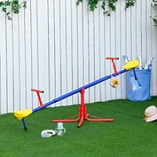 Outsunny Kids 360 Degree Rotating Metal Seesaw