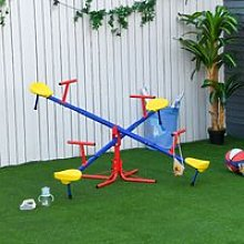 Outsunny Kids Metal Seesaw Teeter Totter