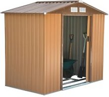 Outsunny Lockable Garden Shed Large Patio Roofed