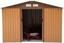 Outsunny Lockable Garden Shed Large Patio Tool