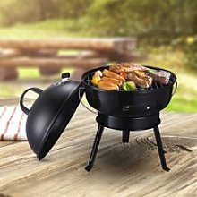 Outsunny Metal Portable Tripod Charcoal BBQ Grill