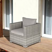 Outsunny Outdoor Patio Furniture Single Rattan