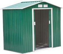 Outsunny Patio Metal 6x6 ft Garden Shed Roofed