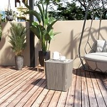 Outsunny Patio Wood Effect Coffee Table Storage