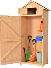 Outsunny Pine Cedarwood Garden Shed Tool Room