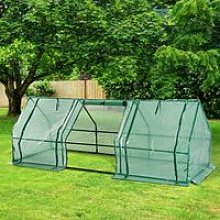 Outsunny Polytunnel Greenhouse Steel Frame XS size