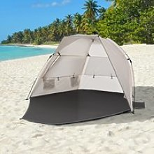 Outsunny Pop Up Beach Tent Sun Shade Shelter for