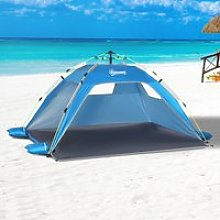 Outsunny Pop-up Beach Tent Sun Shade Shelter for