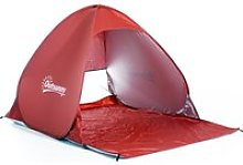 Outsunny Pop-up Portable Beach Tent-Red