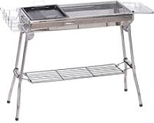 Outsunny Portable Folding Charcoal BBQ Grill