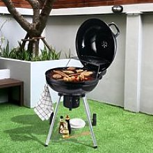 Outsunny Portable Kettle Charcoal BBQ Grill