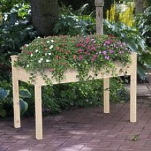 Outsunny Raised Wood Garden Bed Planter Vegetables