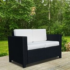 Outsunny Rattan 2-Seater Sofa-Black