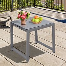 Outsunny Rattan End Table Side Coffee Desk Outdoor