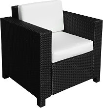 Outsunny Rattan Garden 1 Seater Chair Wicker Weave