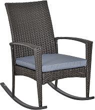 Outsunny Rattan Rocking Chair Rocker Garden