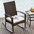 Outsunny Rattan Rocking Chair W/