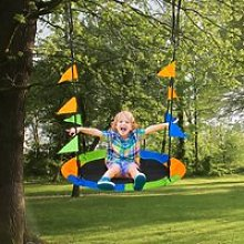 Outsunny Saucer Tree Kids Swing Set with