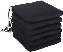Outsunny Set of 6 Chair Cushion Seat Pads Dining Chair w/ Straps Indoor Outdoor