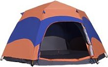 Outsunny Six Man Hexagon Pop Up Tent Camping
