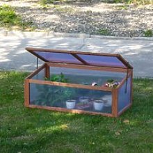 Outsunny Square Wooden Greenhouse for Plants