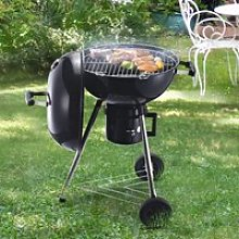 Outsunny Steel Freestanding Charcoal BBQ Grill w/