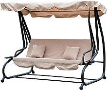 Outsunny Steel Swing Chair Garden Hammock
