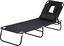 Outsunny Sun Bed Chairs Garden Lounger Reclining