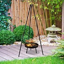 Outsunny Tripod Charcoal Barbecue Grill, size