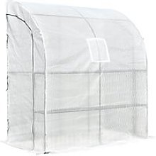 Outsunny Walk-In Greenhouse Tunnel Lean To Wall