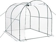 Outsunny Walk in Transparent Greenhouse, Steel