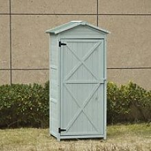 Outsunny Wooden Garden Cabinet 3-Tier Storage Shed