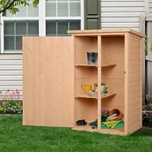 Outsunny Wooden Garden Storage Shed Fir Wood Tool
