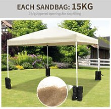 Outsuuny Gazebo Weight Sand Bag Bags Leg Weights