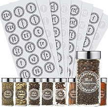 Outus 288 Pieces Herb and Spice Jar Labels