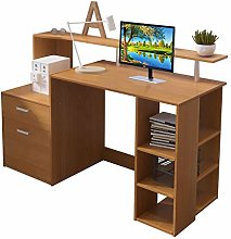 Outwin Corner Desk Folding Wood Computer Desk with