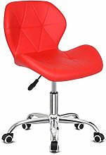 Outwin Desk Chair Swivel Office Chair Red PU