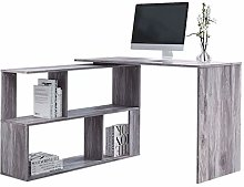 Outwin Work & Study Computer Desk, L-Shaped Wood