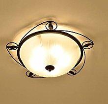 OUUED 3-light Flush Ceiling Light Metal Black