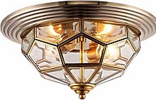 OUUED Medieval Nordic Antique Brass Ceiling Light