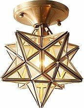 OUUED Moravian Star Island Hanging Pendant Light