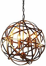 OUUED Retro 4-light Chandelier Industrial Ceiling