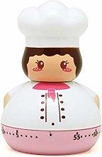 OUY Kitchen Timers 4PCS Mini Chef Egg Timer