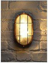 Oval Bulkhead Outdoor Light