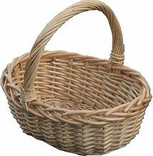 Oval Child Shopping Wicker Basket Brambly Cottage