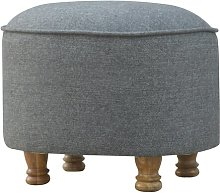Oval Footstool ClassicLiving Upholstery: Black